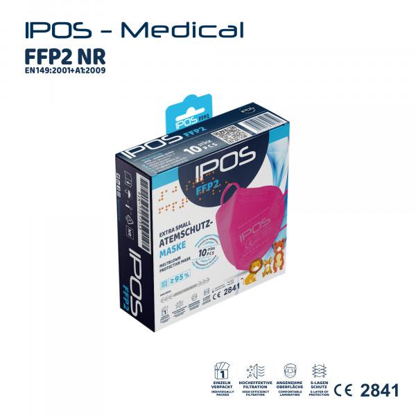 10er Box IPOS-FFP2 Extra Small Pink ATEMSCHUTZMASKE (EINZELVERPACKT)