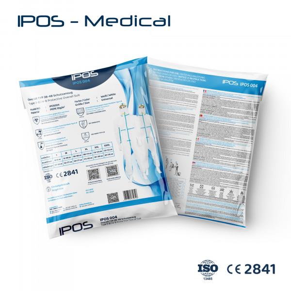 Overall TYP 3B/4B Schutzanzug IPOS-004 PP/PE