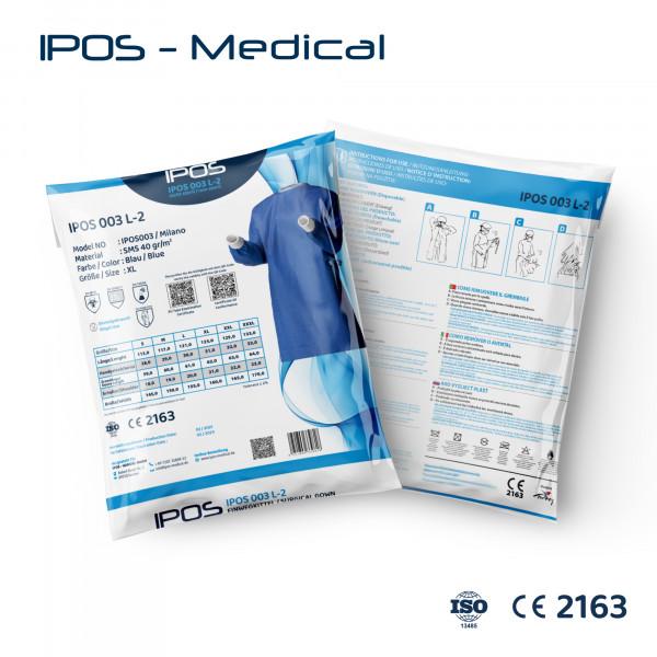 OP-Kittel Non Steril 40g/m² Blau