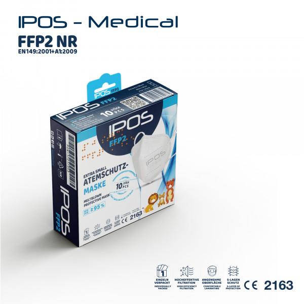 10er Box IPOS-FFP2 Extra Small ATEMSCHUTZMASKE (EINZELVERPACKT)