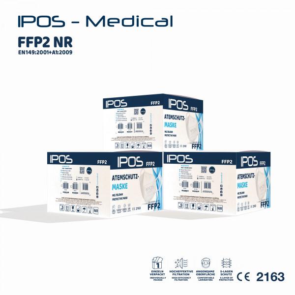 Karton - 10er Box IPOS-FFP2 ATEMSCHUTZMASKE (EINZELVERPACKT)
